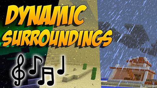 Мод Dynamic Surroundings 1.16.5, 1.12.2, 1.7.10