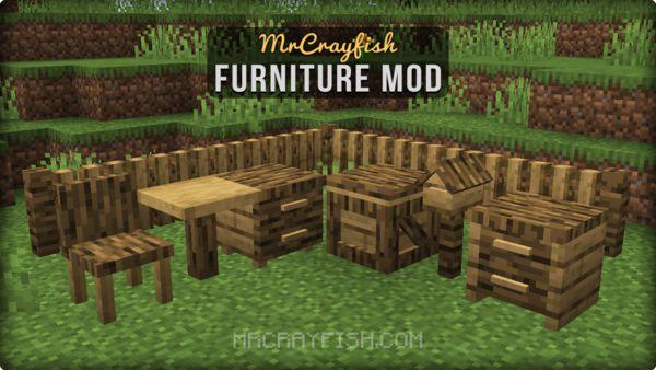 Мод на мебель - MrCrayfish's Furniture 1.16.5, 1.15.2, 1.14.4, 1.12.2, 1.7.10