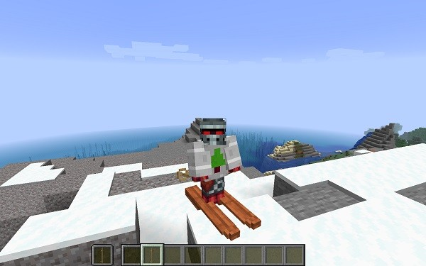 Мод Skiing 1.16.4 (горнолыжное снаряжение)