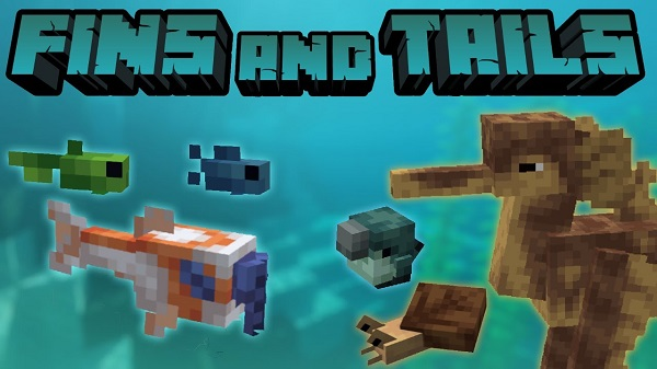Мод Fins and Tails 1.16.5, 1.16.4