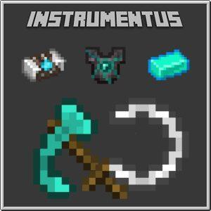 Мод Instrumentus 1.16.5, 1.15.2 (новые улучшенные инструменты)