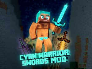 Мод Cyan Warrior Swords 1.16.5, 1.15.2, 1.12.2 (новые крутые мечи)