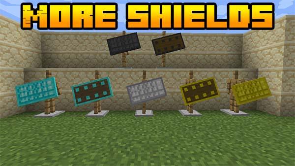 Мод More Shields 1.16.5, 1.16.4 (новые щиты)