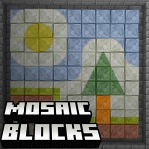 Мод Mosaic Blocks 1.16.5 (блоки-мозаики)