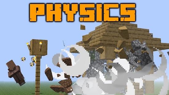 Мод Physics 1.16.5 (физика блоков и мобов)