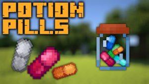 Мод Potion Pills 1.16.5, 1.16.4