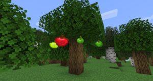 Мод Apple Trees Revived для Майнкрафт 1.16.5