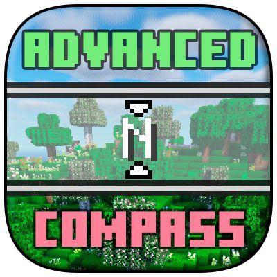 Мод Advanced Compass 1.16.5, 1.16.4 (компас в стиле RPG)