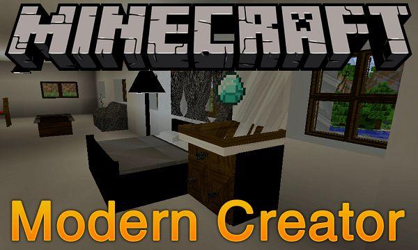 Мод Modern Creator 1.16.5, 1.14.4, 1.12.2 (современная мебель)