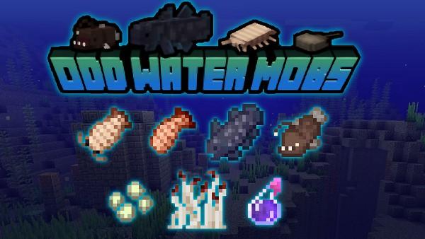 Мод Odd Water Mobs для Майнкрафт 1.16.5, 1.15.2