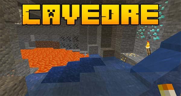 Мод CaveOre для Майнкрафт 1.16.5