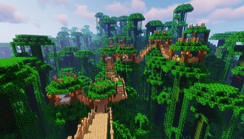 Мод Jungle Villages для Майнкрафт 1.16.5 (деревни в джунглях)