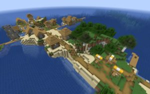 Обычная и зомби-деревня на острове 1.16.5