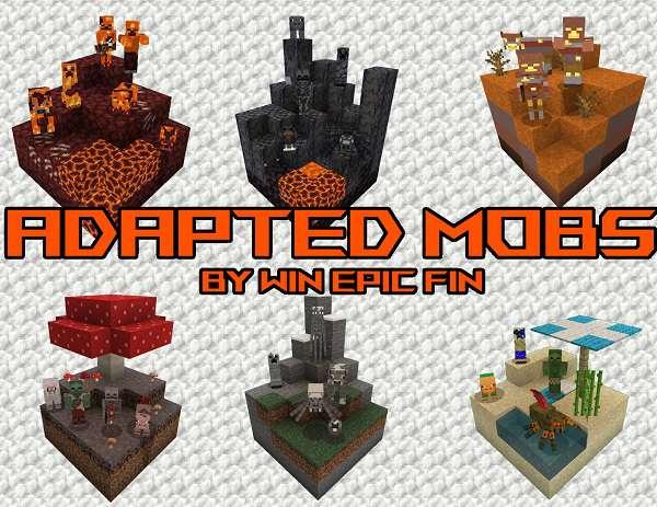 Ресурс-пак Adapted Mobs [16x] 1.17, 1.16.5, 1.15.2, 1.12.2