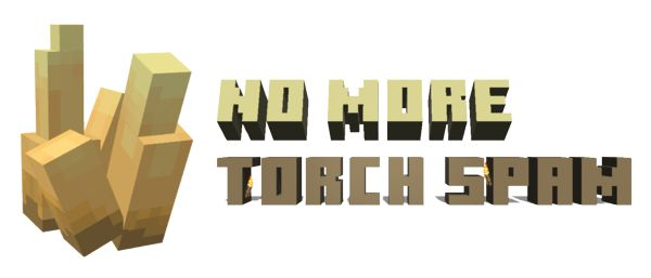 Мод No More Torch Spam 1.16.5 (световые кристаллы)