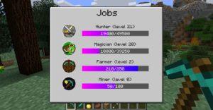 Мод Jobs для Майнкрафт 1.12.2