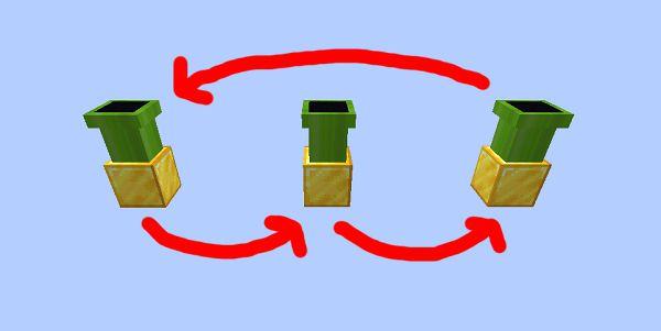 Мод Warp Pipes 1.17.1, 1.17