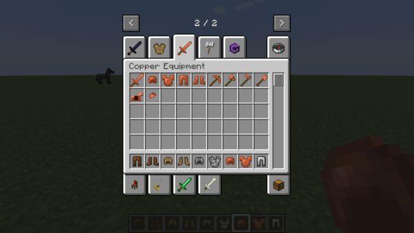 Мод Copper Equipment 1.17.1 (экипировка из меди)