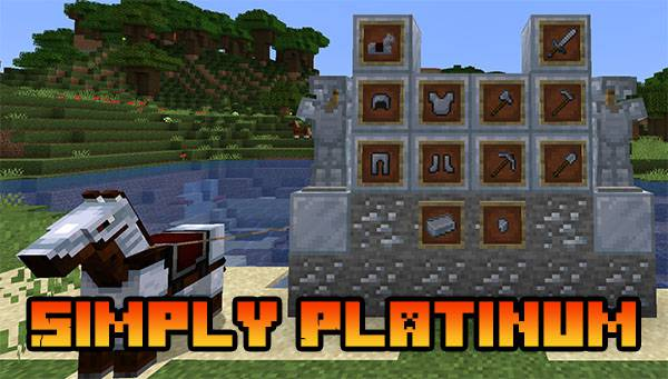 Мод Simply Platinum 1.17.1, 1.16.5, 1.15.2, 1.12.2