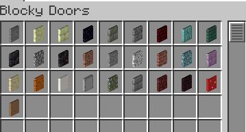 Мод Blocky Stone Doors 1.17.1, 1.16.5