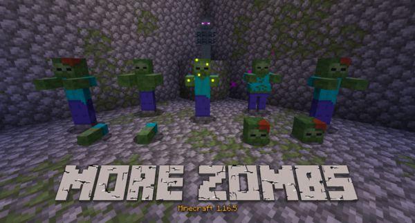 Мод More Zombs 1.16.5 (новые виды зомби)