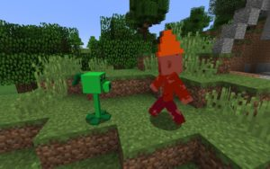 Мод Plants vs Zombies 1.16.5, 1.15.2, 1.12.2